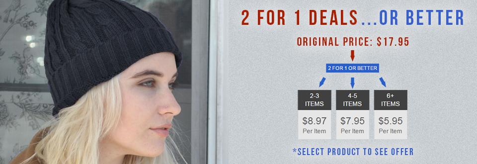2 for 1 Hats at Village Hat Shop