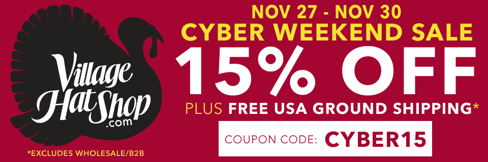 11/27-11/30: Cyber Weekend Sale - 15% off sitewide!