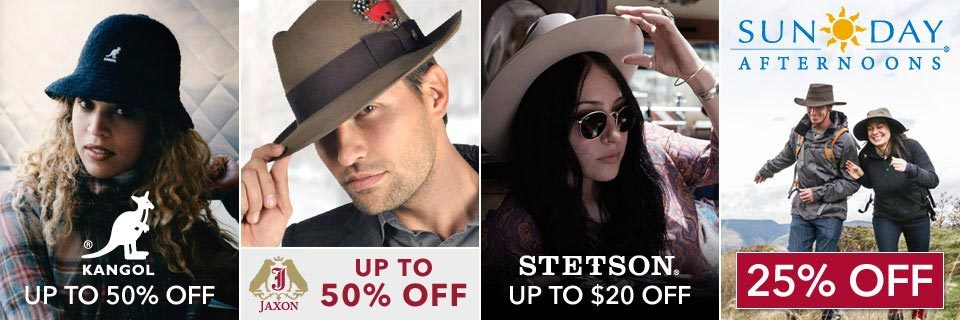 On Sale: Kangol, Jaxon Hats, Stetson, and Sunday Afternoons