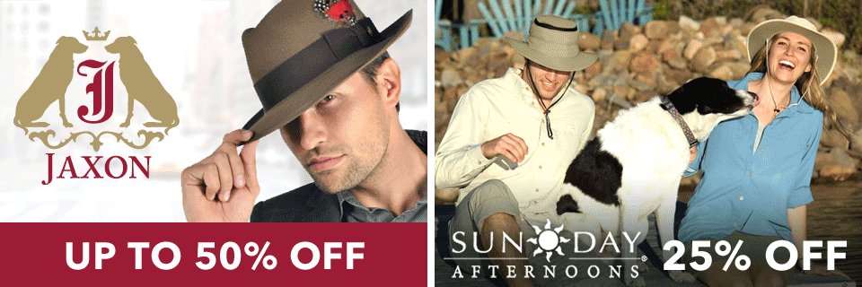 On Sale: Jaxon Hats and Sunday Afternoons