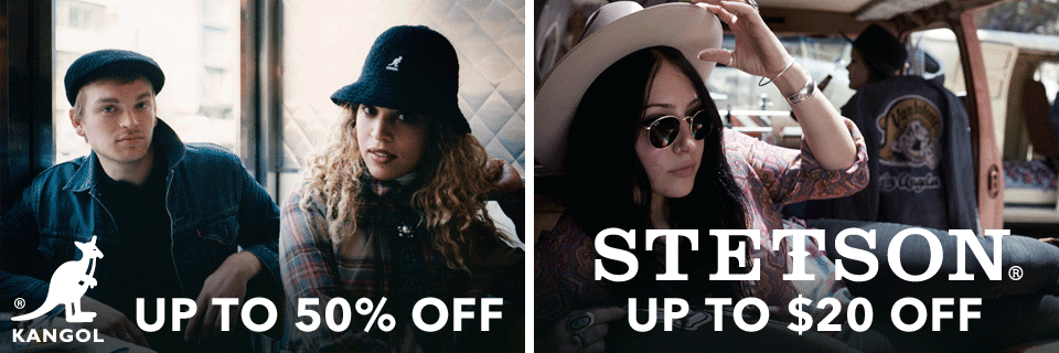 On Sale: Kangol and Stetson