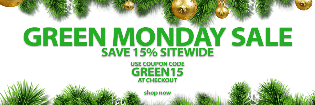 save 15percent sitewide with code GREEN15