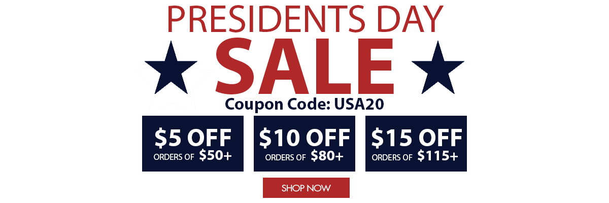 Sale Save up to $15 this Presidents Day Weekend