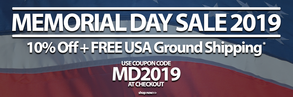 Memorial Day Sale 10percent Off plus free usa ground shipping with coupon code MD2019