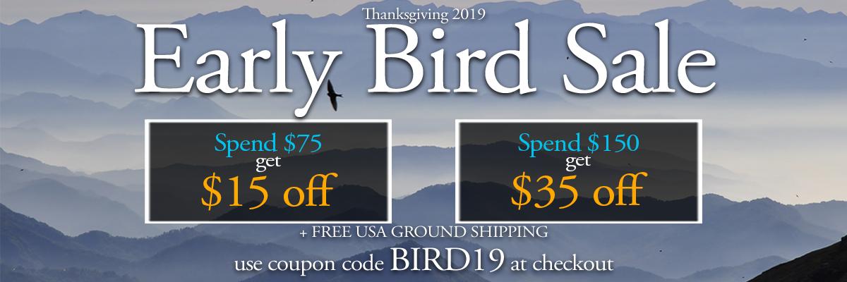 save up to $35 with coupon code BIRD19