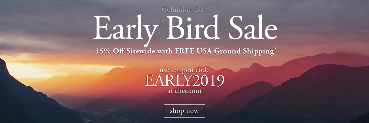 15percent off sitewide with coupon code early2019