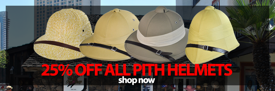 Save 25percent off Pith Helmets Now