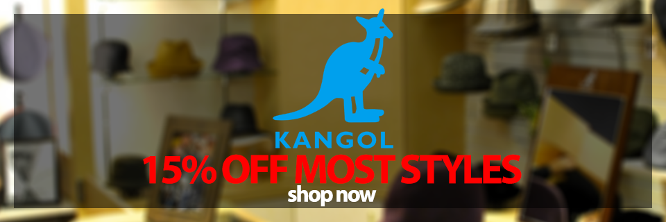Brand Kangol 15percent off Most Styles