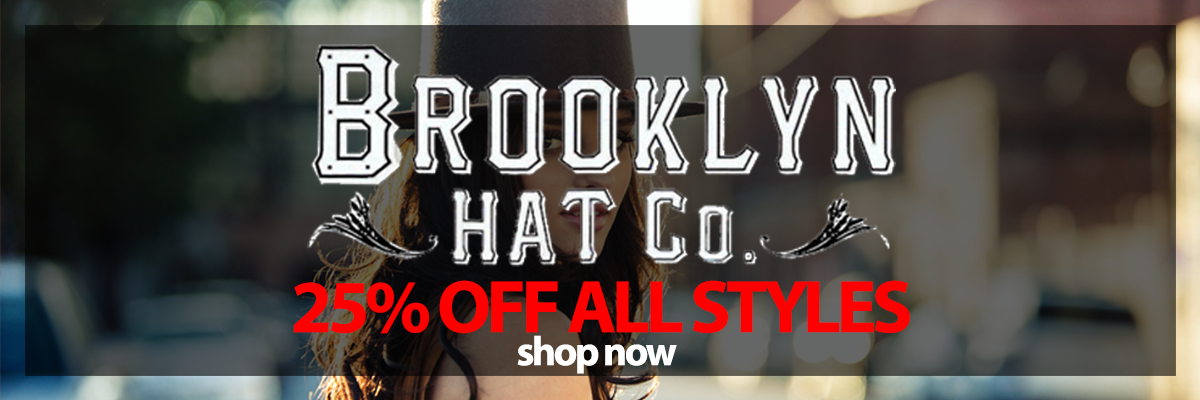 Sale Save 25percent off all Brooklyn Hat Company Styles