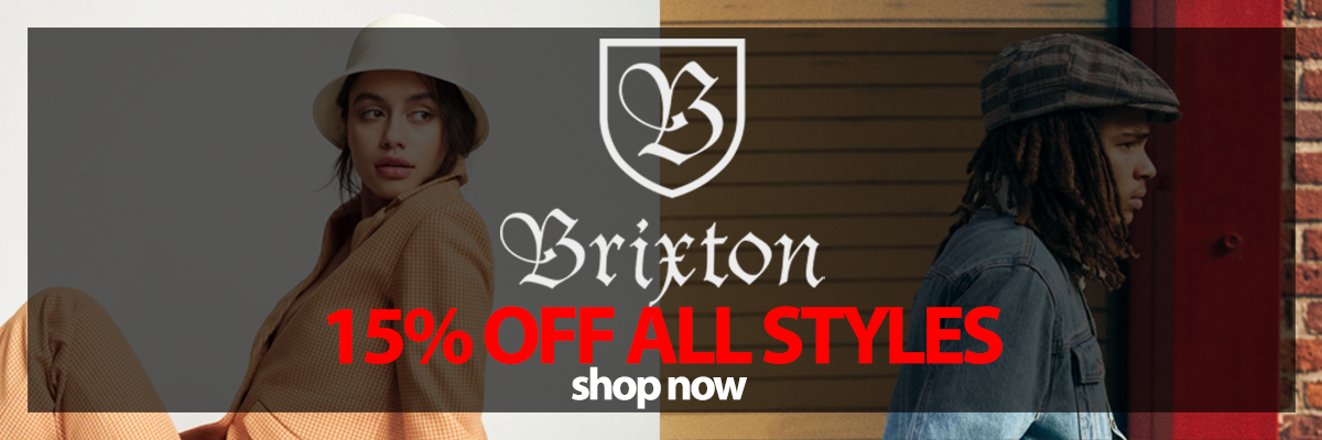 Brand Brixton 15percent off all styles