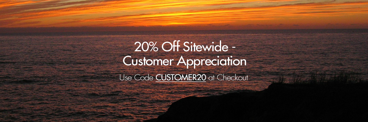Customer Recognition Sale 20% Off Sitewide with Coupon Code CUSTOMER20 at checkout