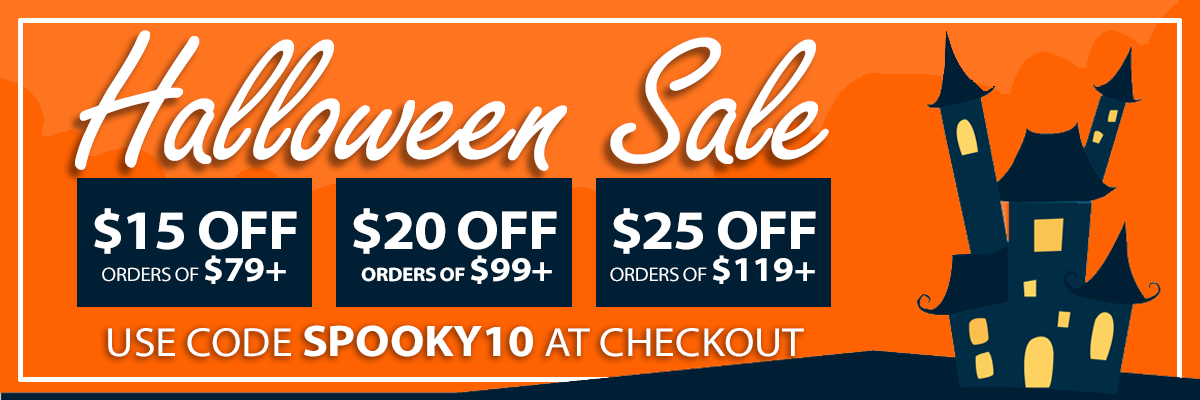 Up to $25 Off This Halloween Sale use coupon code SPOOKY10 at checkout