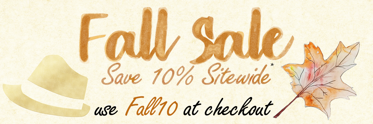 10% Off Sitewide First Day of Fall Sale Code: FALL10 some exclusions apply