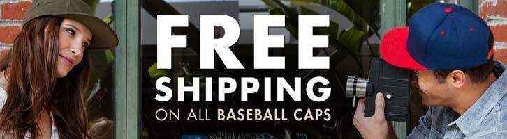 Free Shipping on all Baseball Caps