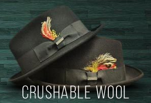 Crushable Felt Fedoras