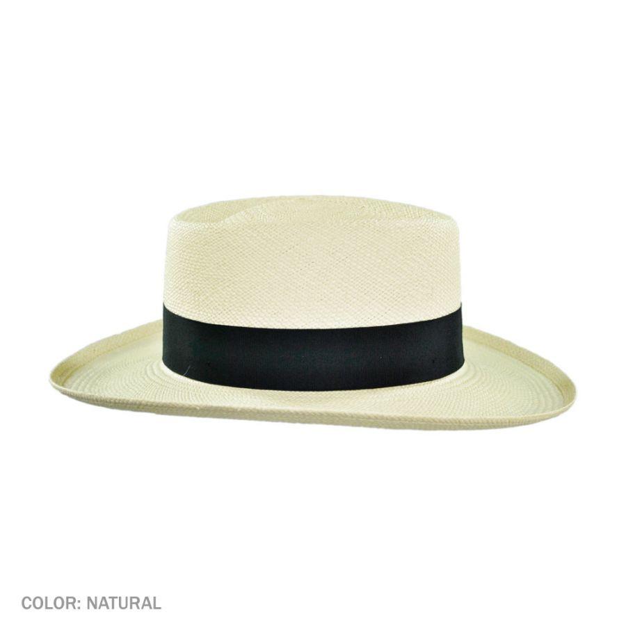 Pantropic Trinidad Panama Straw Gambler Hat Straw Hats