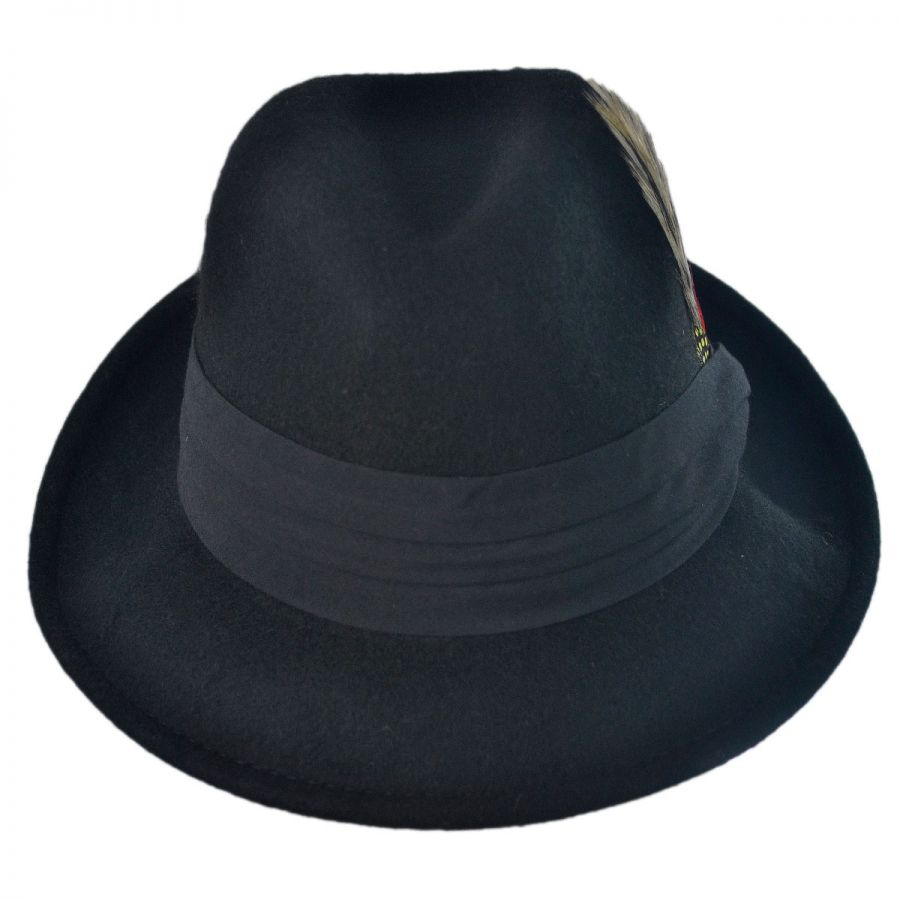 f7c0b195ce1 Capas Headwear Kid s Blues Crushable Wool Felt Trilby Fedora Hat Boys