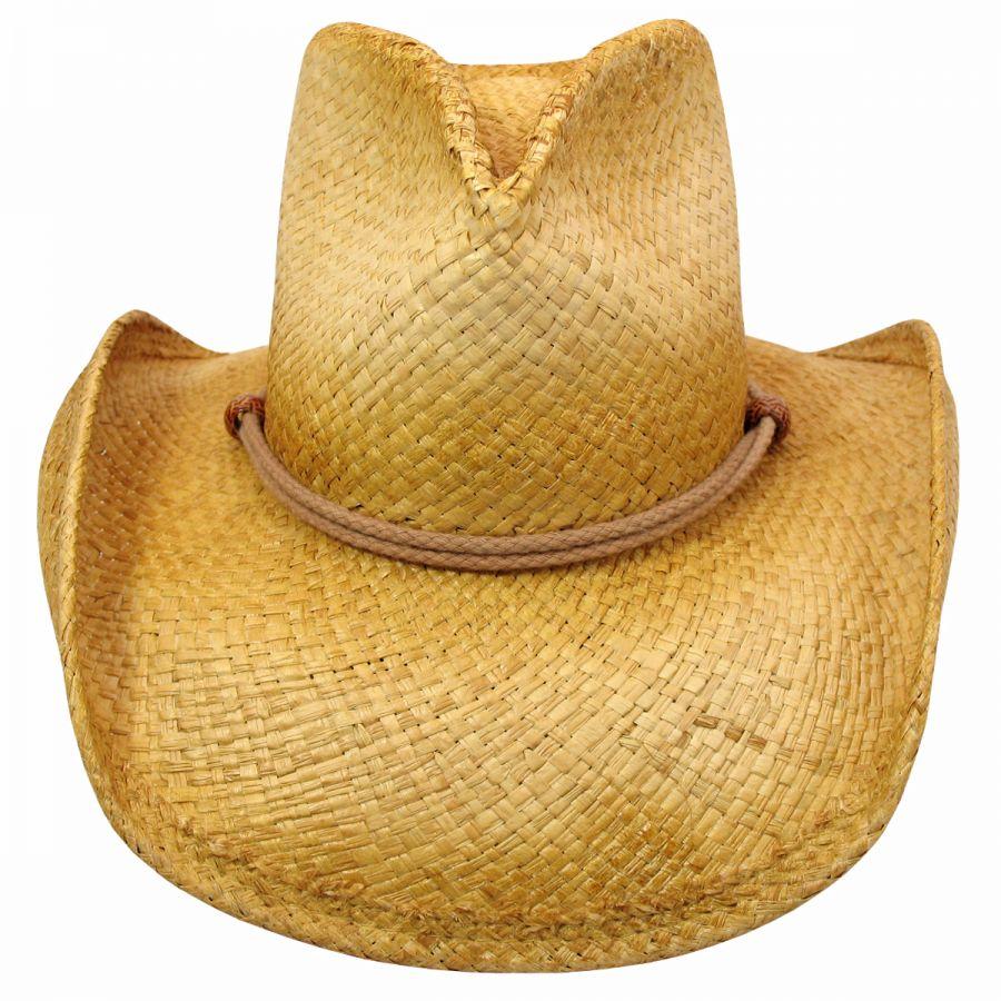 Shady Brady Stampede Raffia Straw Western Hat Straw Hats