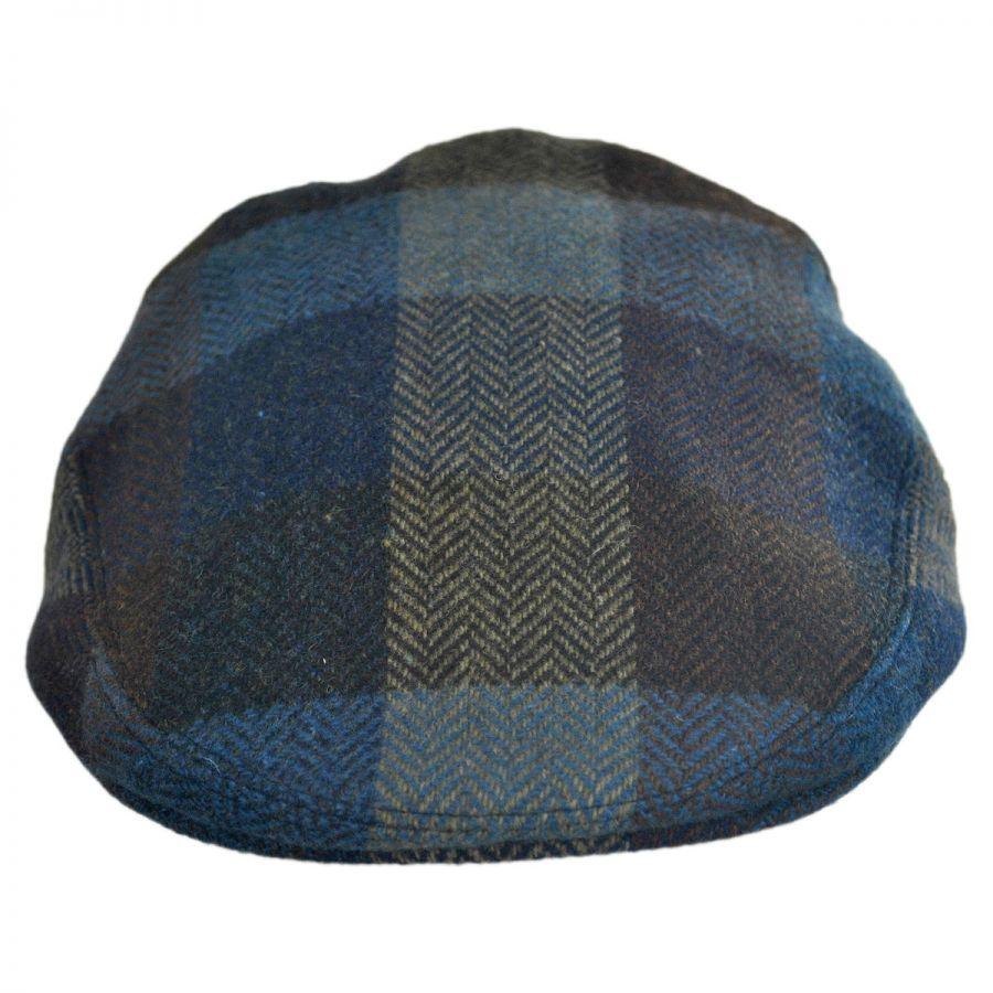 City Sport Caps Herringbone Squares Donegal Tweed Wool Ivy Cap Flat ... f32edb3bb142