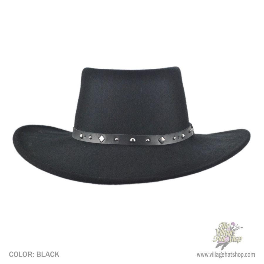 Stetson Black Hawk Crushable Gambler Cowboy Hat Western Hats a2db7d2ccae