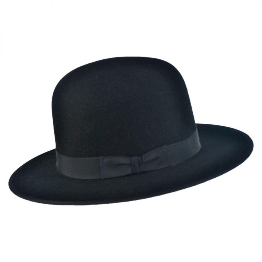f8ac5bd5ccbc3 Stetson Amish Buffalo Fur Felt Open Crown Fedora Hat Fur Felt