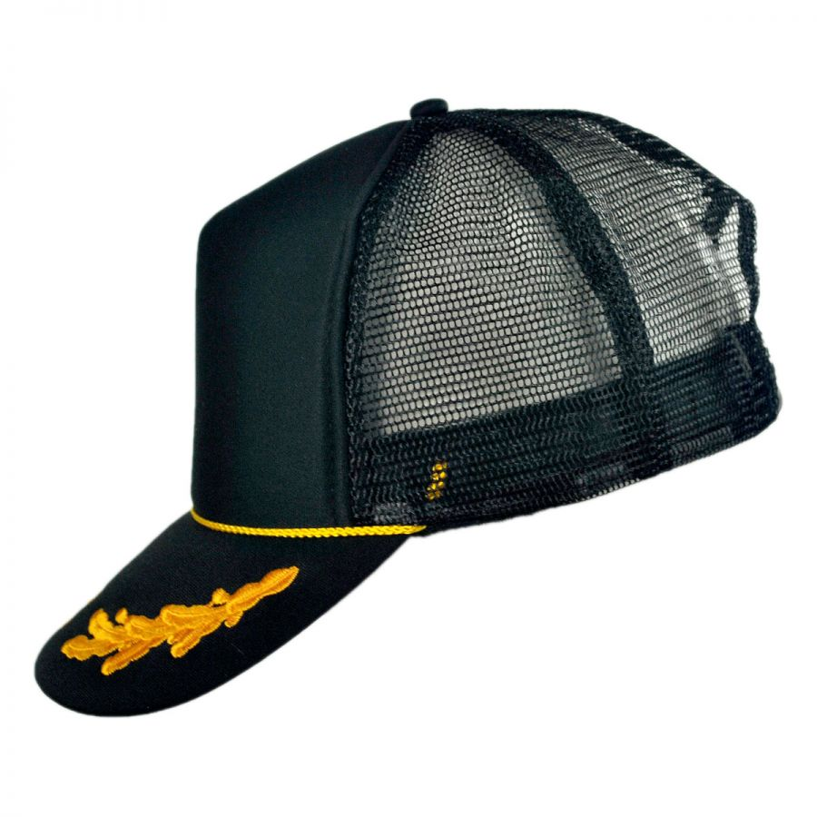 otto gold leaves mesh trucker snapback baseball cap