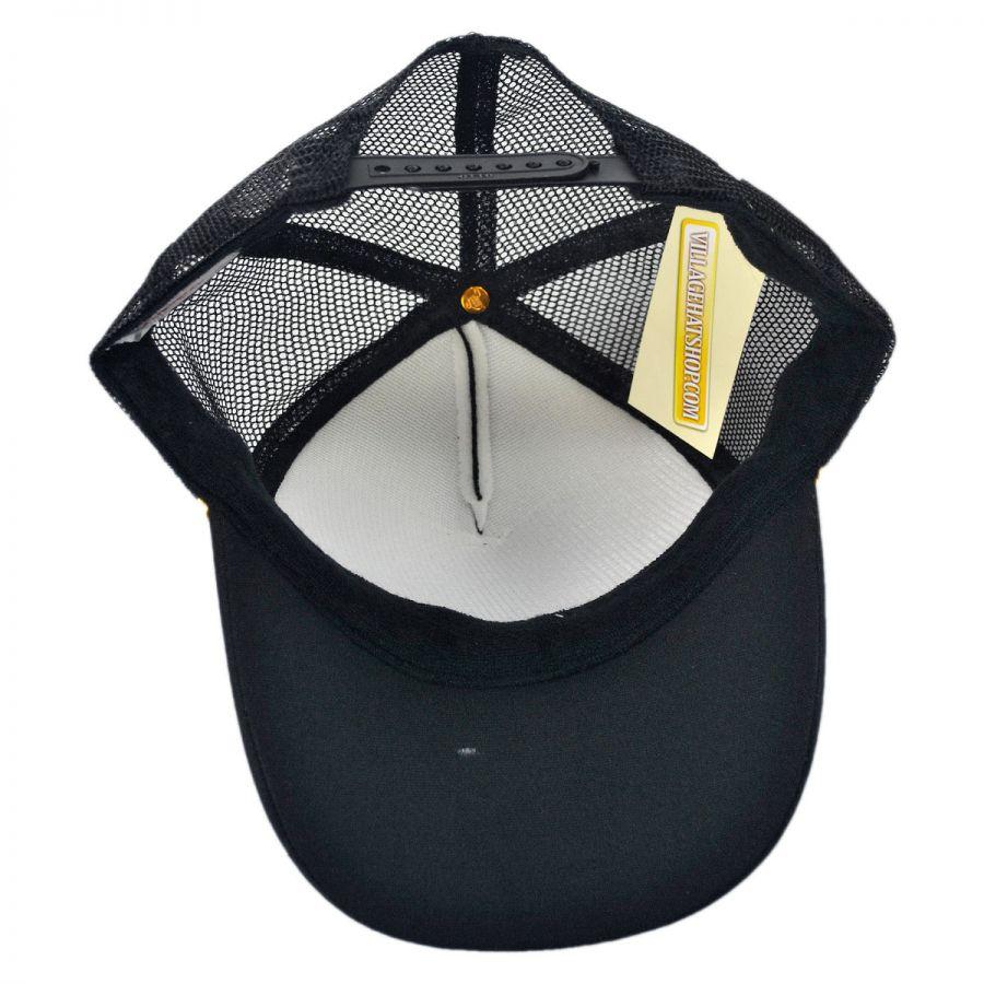 Otto Gold Leaves Mesh Trucker Snapback Baseball Cap Snapback Hats 7c73adc4e2aa