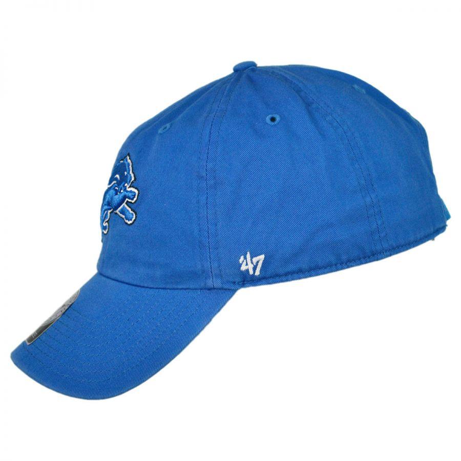 47 Brand Detroit Lions NFL Clean Up Strapback Baseball Cap Dad Hat ... 7512c4cf8