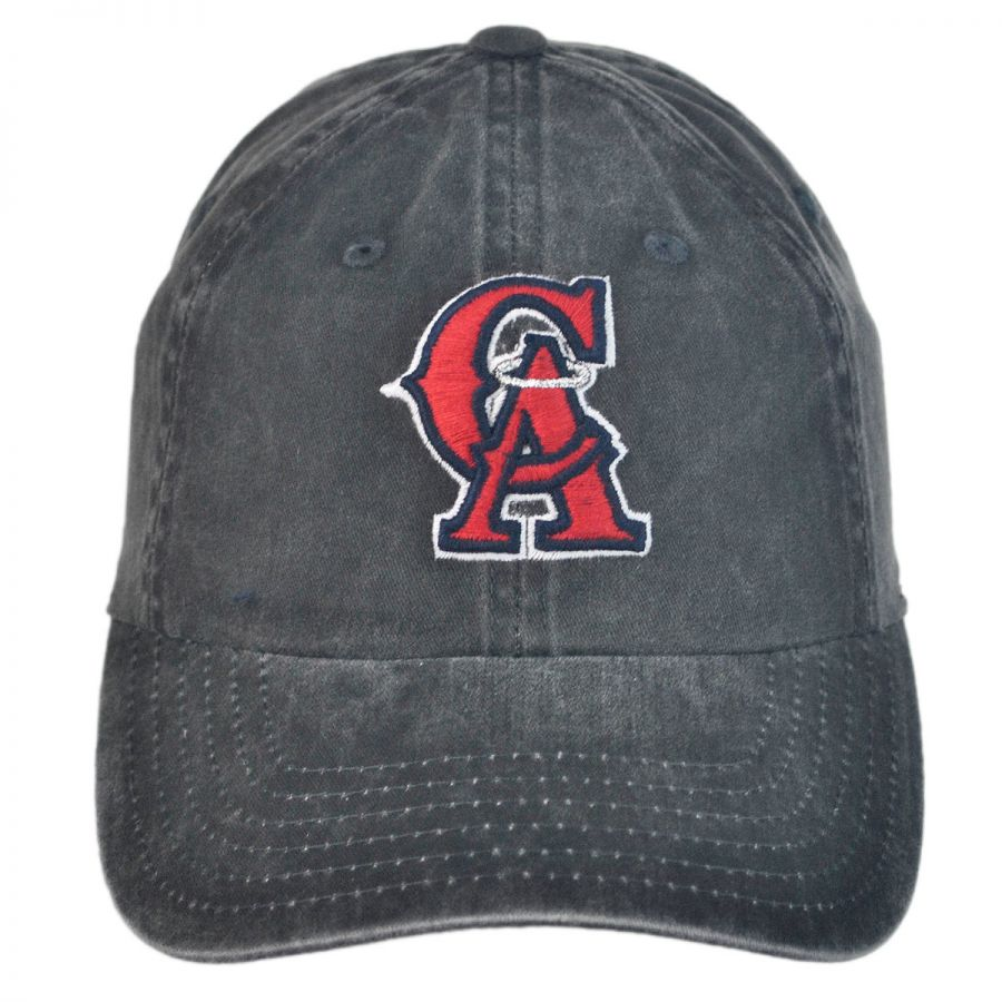 Los Angeles Angels of Anaheim MLB Raglan Strapback Baseball Cap Dad Hat in cd7503808f1