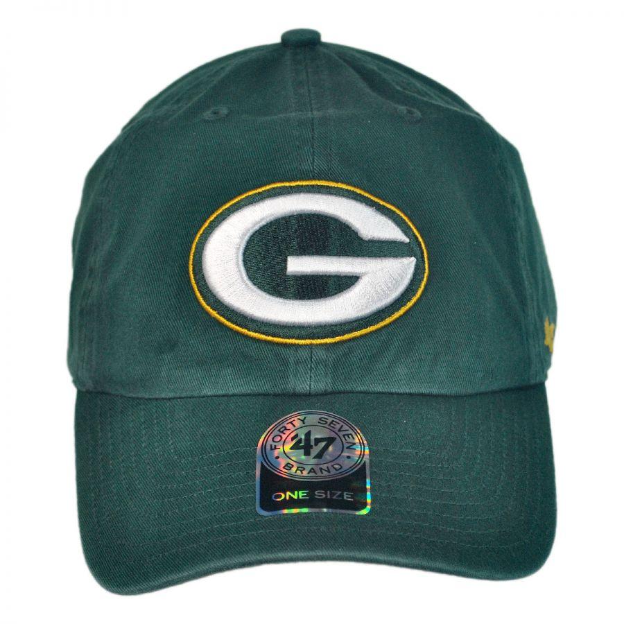 dbc2f55f3012d 47 Brand Green Bay Packers NFL Clean Up Strapback Baseball Cap Dad ...