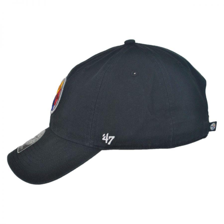 915fdb62 Pittsburgh Steelers NFL Clean Up Strapback Baseball Cap Dad Hat