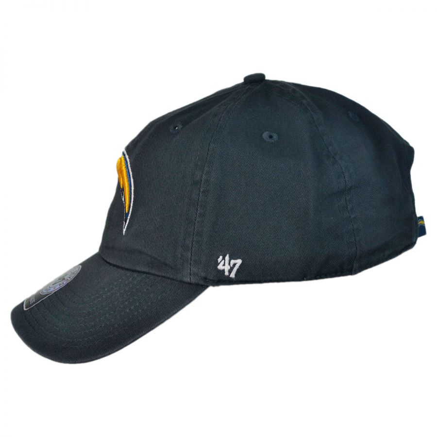 promo code c9993 ea823 Los Angeles Chargers NFL Clean Up Strapback Baseball Cap Dad Hat in
