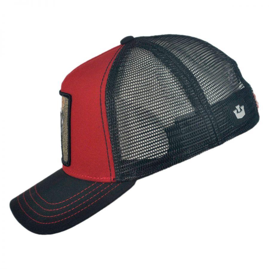 Goorin Bros Woody Wood Mesh Trucker Snapback Baseball Cap Snapback Hats aac4b9eada0