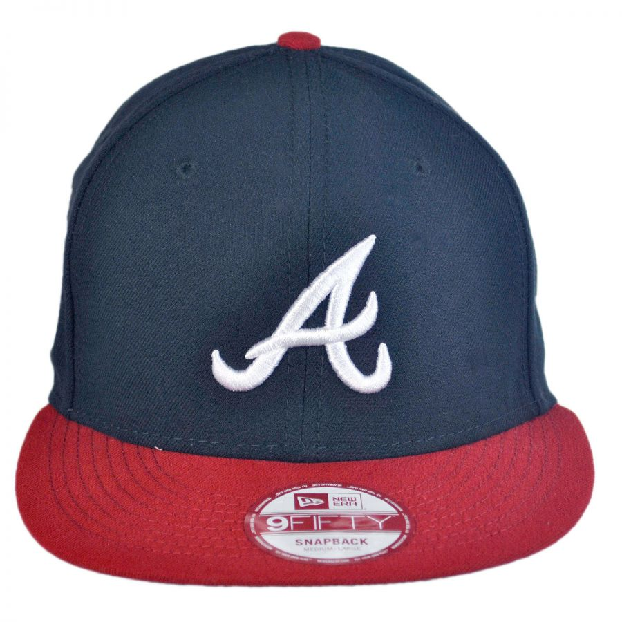 New Era Atlanta Braves MLB 9Fifty Snapback Baseball Cap MLB Baseball ... edbcf128883