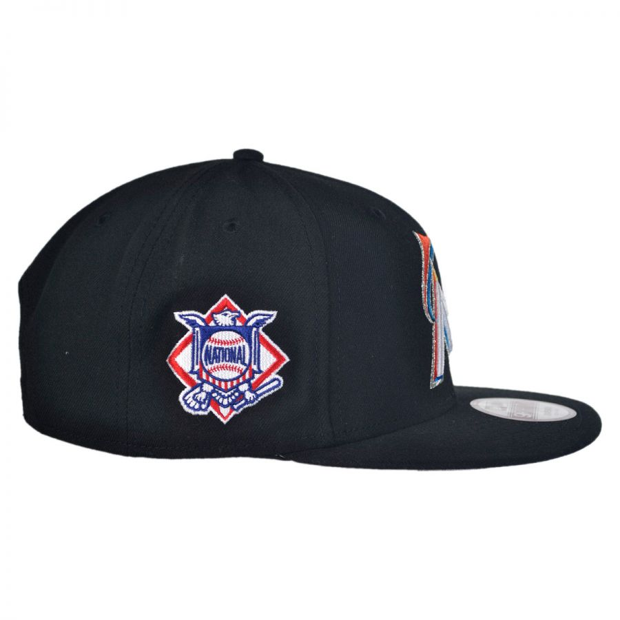 new era miami marlins mlb 9fifty snapback baseball cap mlb. Black Bedroom Furniture Sets. Home Design Ideas