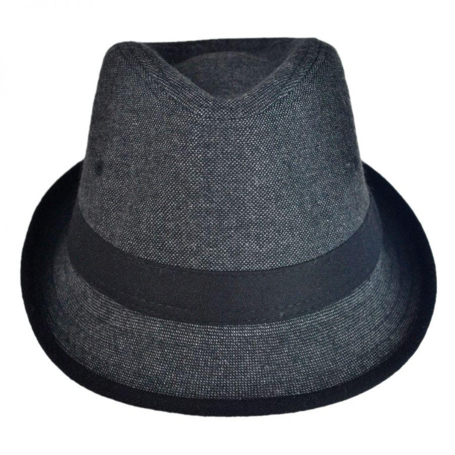 801f705628c5 Kid's Tweed Fabric Fedora Hat