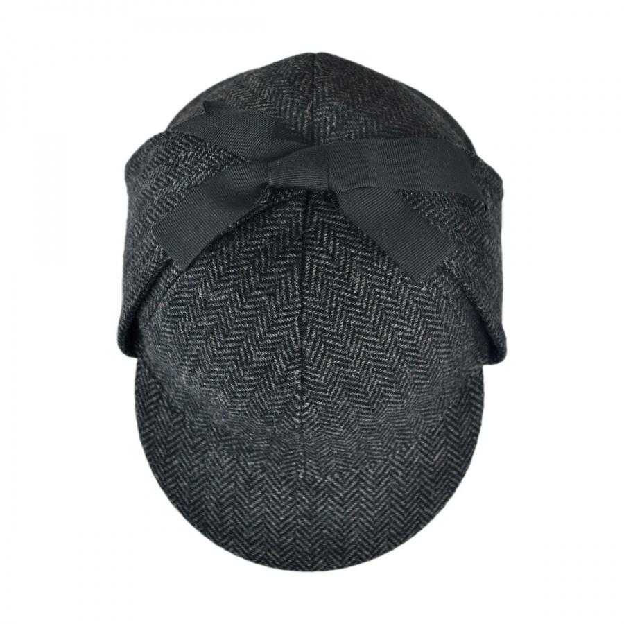 Jaxon Hats Sherlock Holmes Herringbone Wool Blend Hat Novelty Hats ... c1f8de77b138