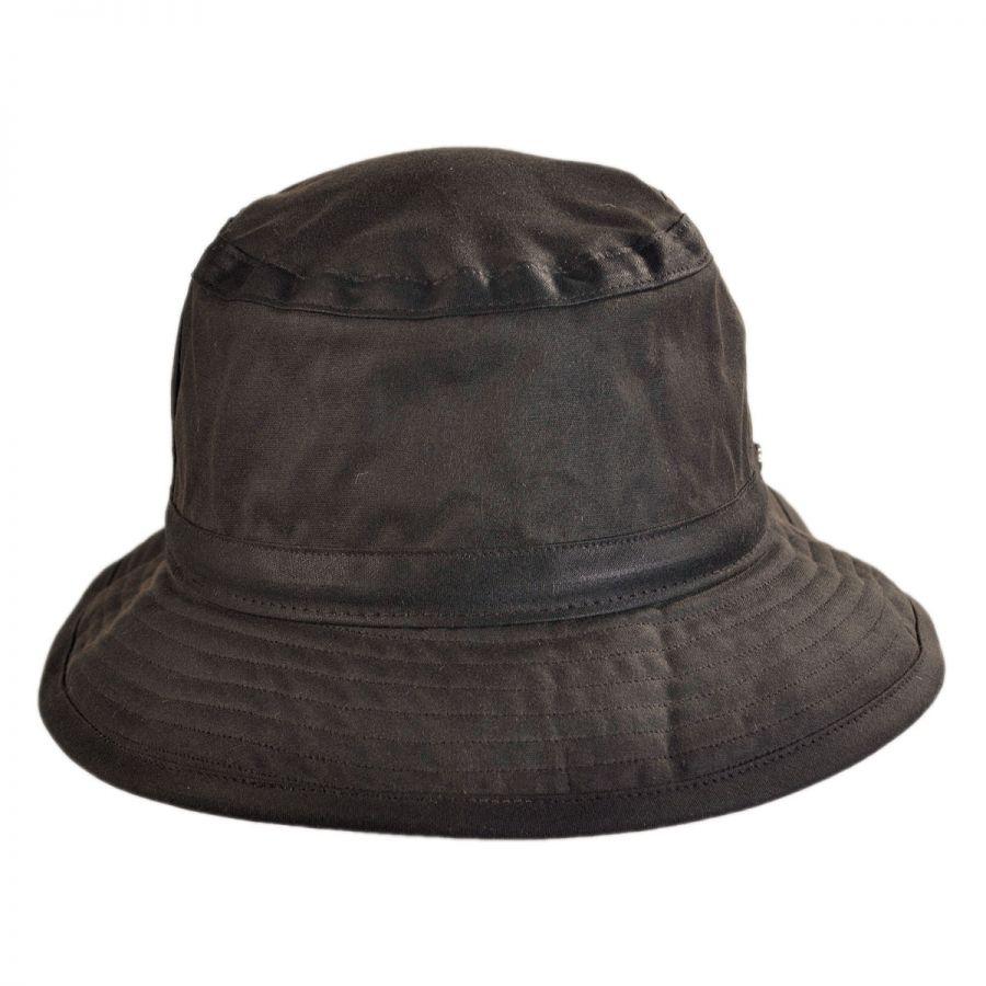 Hills Hats of New Zealand The Storm Waxed Cotton Bucket Hat Rain Hats 093b7c2fbf1