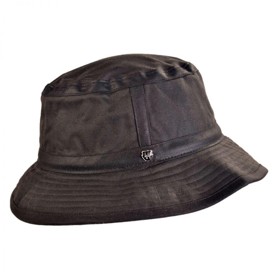 Hills Hats of New Zealand The Storm Waxed Cotton Bucket Hat Rain Hats e8300ea8adc