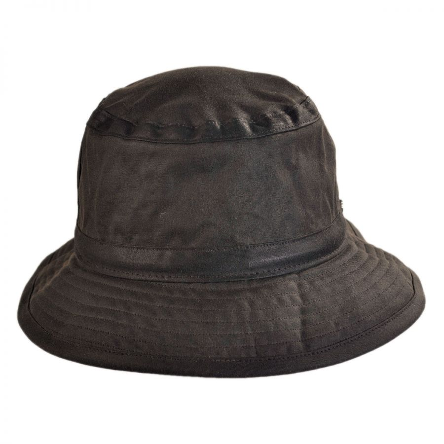 Hills Hats of New Zealand The Storm Waxed Cotton Bucket Hat Rain Hats 82035bc341d8