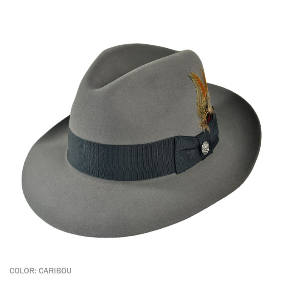 3ed90c32a55 Stetson Pinnacle Beaver Fur Felt Fedora Hat All Fedoras