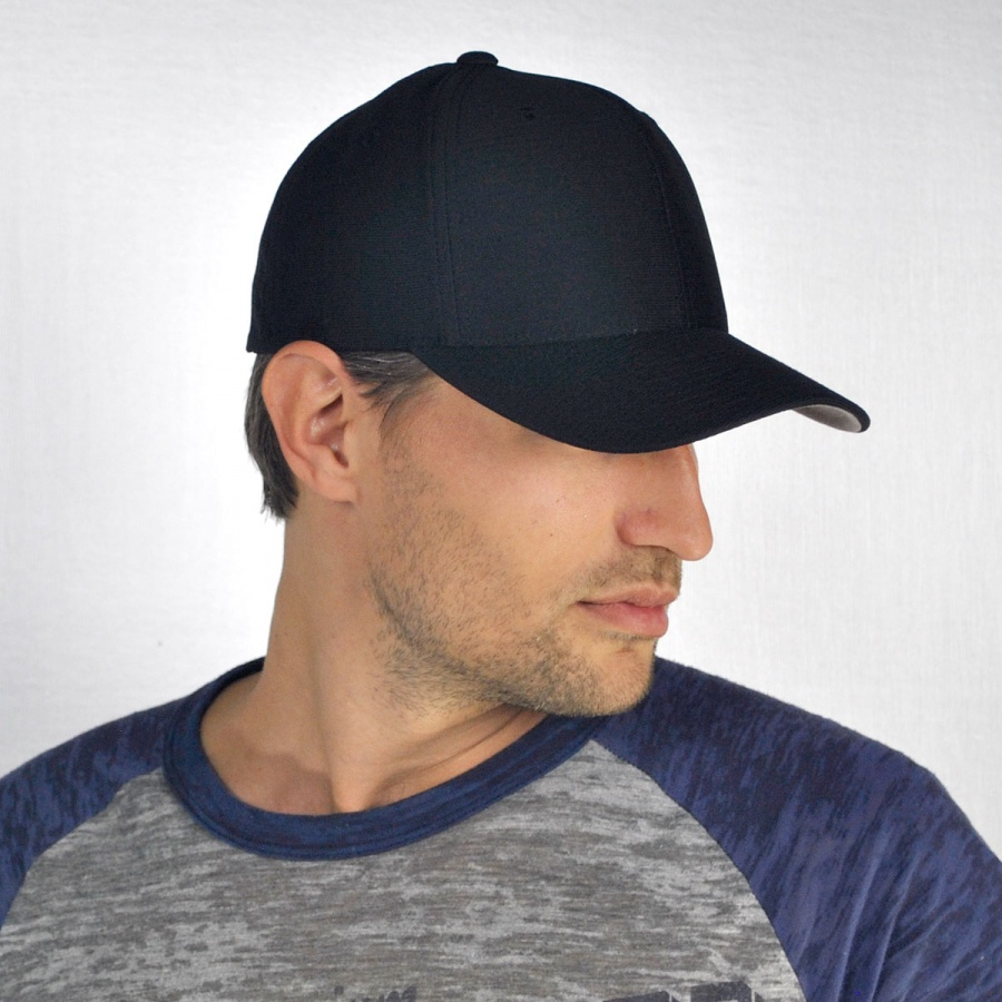 ad1a4964678 Flexfit Cool and Dry FlexFit Fitted Baseball Cap All Baseball Caps