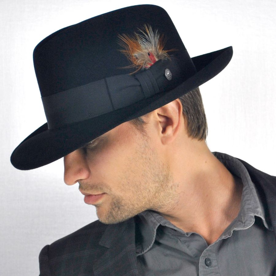 09a717597148d Stetson Temple Fur Felt Fedora Hat All Fedoras