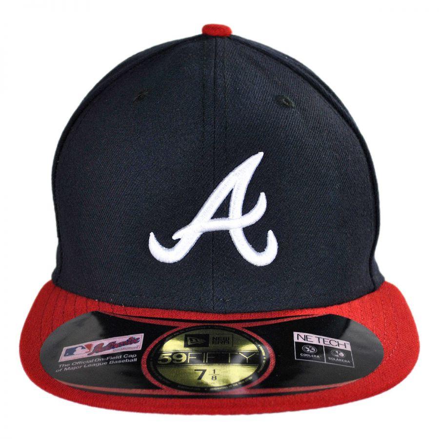 new era atlanta braves mlb home 59fifty fitted baseball