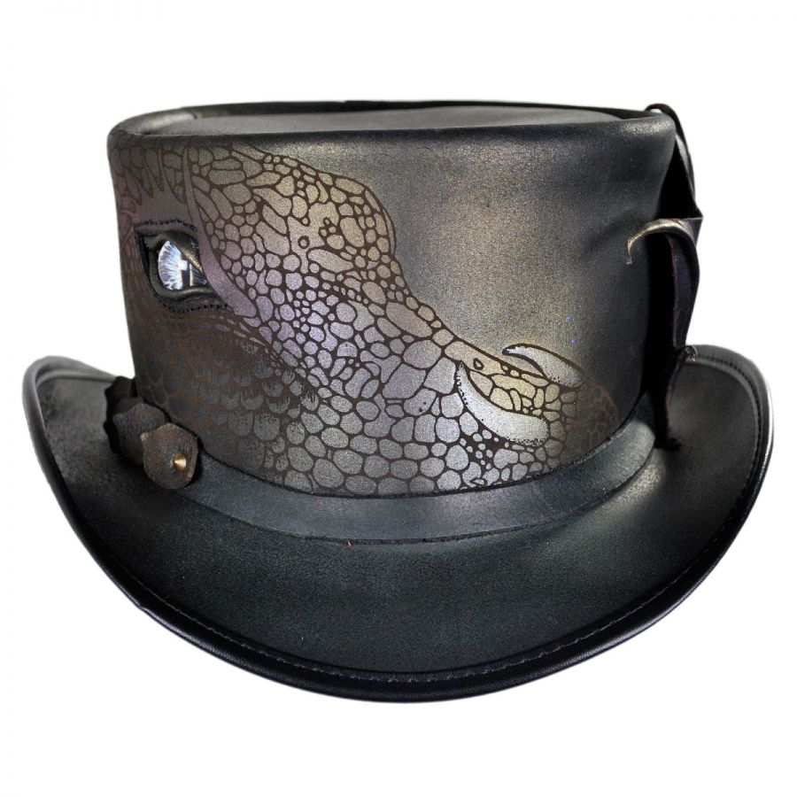Head N Home Draco Leather Top Hat Top Hats