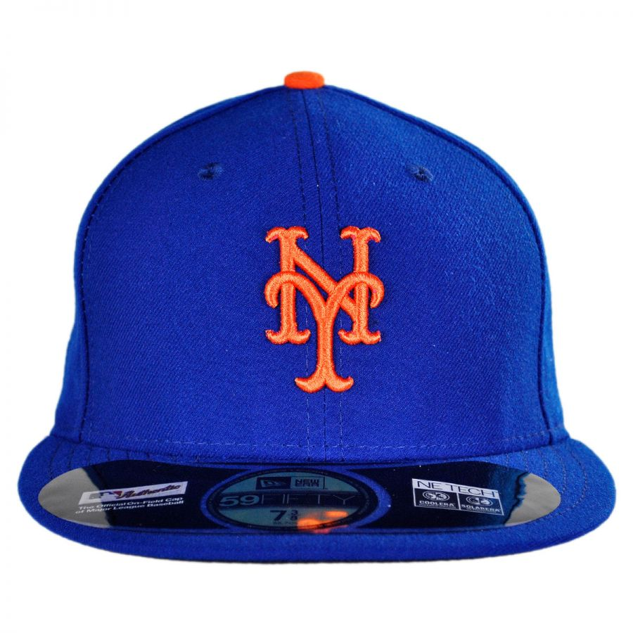 New Era New York Mets MLB Home 59Fifty Fitted Baseball Cap MLB ... 7353a8c5d1f1