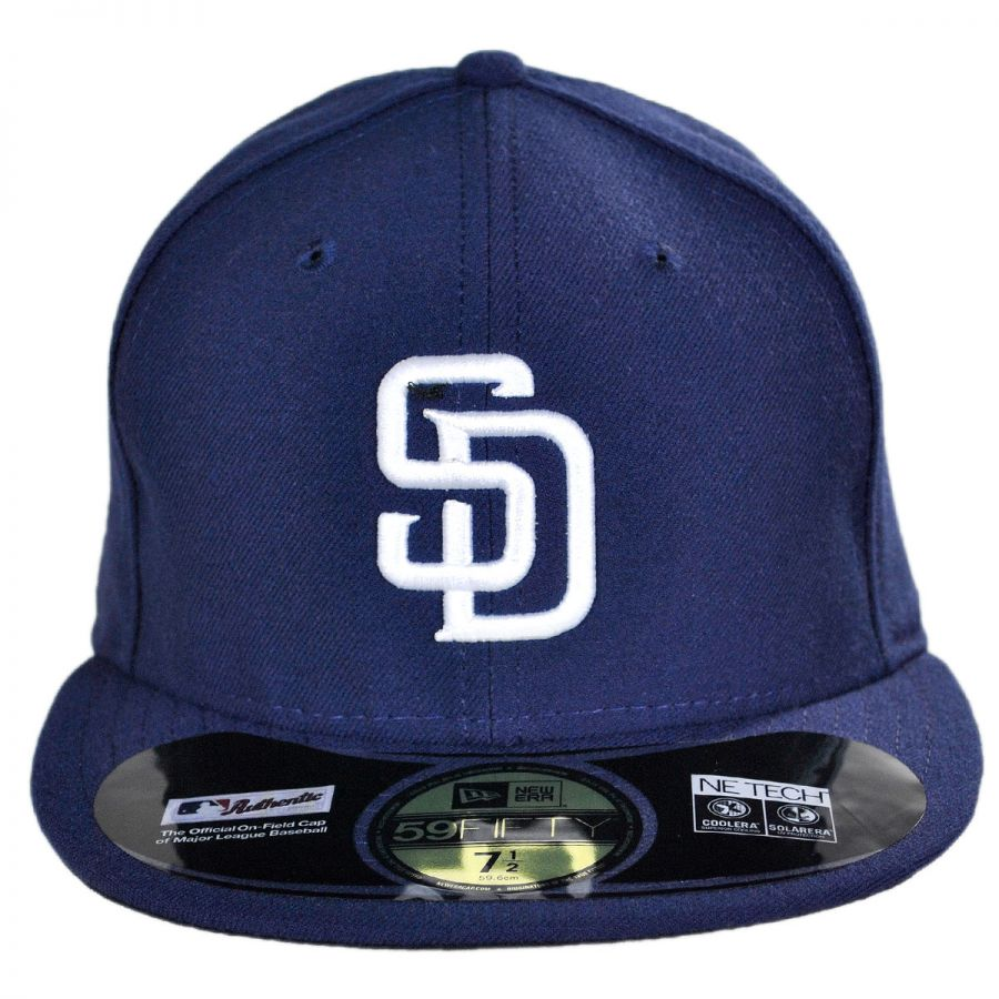 online store 1180b f2db0 San Diego Padres MLB Home 59Fifty Fitted Baseball Cap in