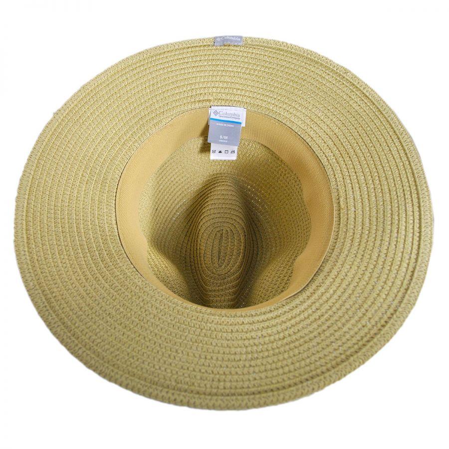 Columbia Sportswear PFG Bonehead Toyo Straw Safari Fedora Hat Straw ... 83db48be5bde