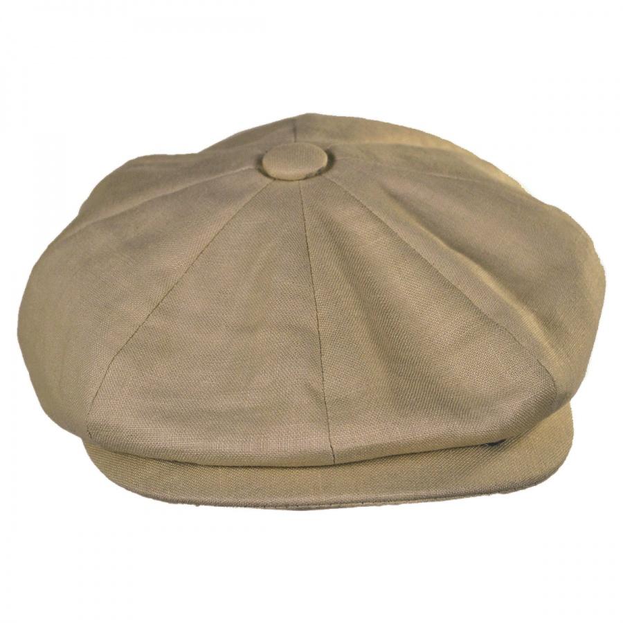Jaxon Hats Linen and Cotton Newsboy Cap Newsboy Caps e27ee06a43f
