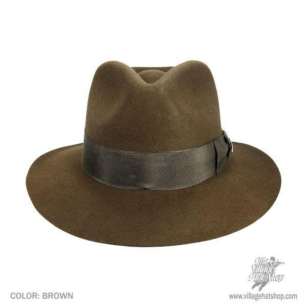 225aad24e7472 Indiana Jones Officially Licensed Wool Felt Fedora Hat All Fedoras